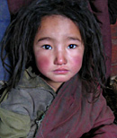 Tibetan Child from Nomadic Family